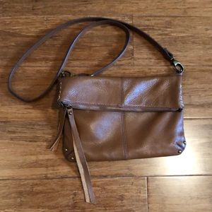 Lucky Brand Crossbody Bag Pebbled Brown Leather
